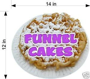 Funnel Cake Cakes Concession Trailer Food Truck Vinyl Sticker Decal 14