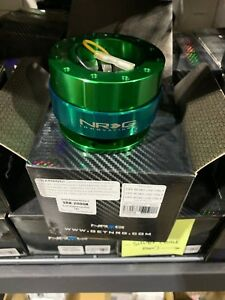 Nrg Steering Wheel Quick Release Gen 2 0 Green Momo Omp