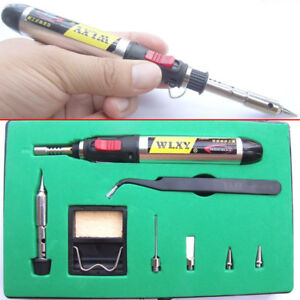 Flame Butane Gas Soldering Iron Stand Soldering Tips