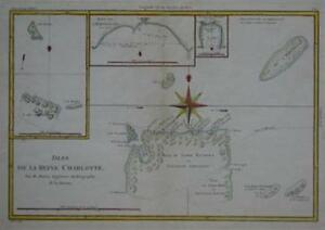 Original 1788 Map Capt Carteret Voyage Solomon Islands