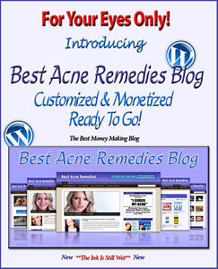 Acne Blog Self Updating Website With Clickbank Amazon Adsense Affiliate Pages