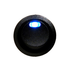 Car Truck Boat ATV 12V Automotive Round Rocker Toggle Switch w/ Blue LED SPST
