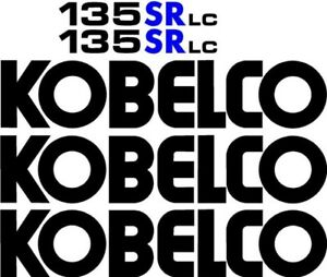 Decal Set For Kobelco 135sr Lc Excavator