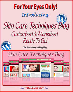 Skin Care Blog Self Updating Website With Clickbank Amazon Adsense Pages More