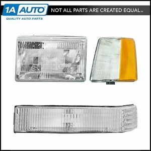 Headlights Parking Corner Lights Driver Side Left Lh For 93 96 Grand Cherokee