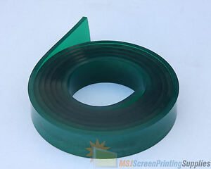 6 Ft feet Roll 70 Duro Durometer Silk Screen Printing Squeegee Blade Green