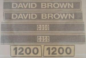 Db1200 Hood Decal Set For Case David Brown 1200 Tractor