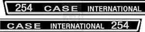 Ih Case International Tractor 254 Decal Set