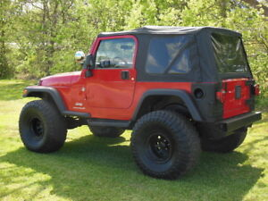 For 97 06 Jeep Wrangler Soft Top With Tinted Side Panels Rear Window