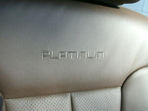 Ford F 150 Platinum Edition Brown Leather Driver Front Heated Cooled Seat