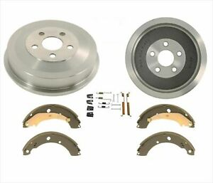 Rear 9 Inch Brake Drums Brake Shoes For Chrysler Pt Cruiser 04 09 With Abs