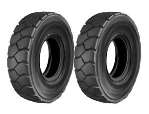 Two New 6 50 10 Forklift Truck Tires Tubes Flaps Fit Cat Yale Hyster Clark