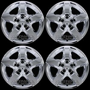 4 Chrome 07 12 Fits Malibu G6 Aura 17 Bolt On Hub Caps 5 Spoke Rim Wheel Covers
