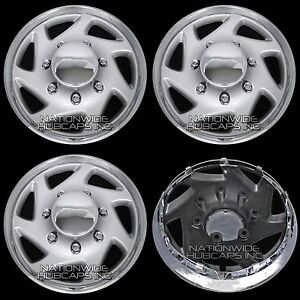 New Set Of 4 Ford Truck Van 16 8 Lug Full Wheel Covers Hub Caps Fits Steel Rim