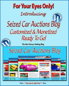 Seized Car Auctions Blog Self Updating Website Clickbank Amazon Adsense Pages