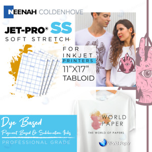 Jet Pro Ss Heat Transfer Papers For Inkjet Printer 11 X 17 Heat Press 100pk