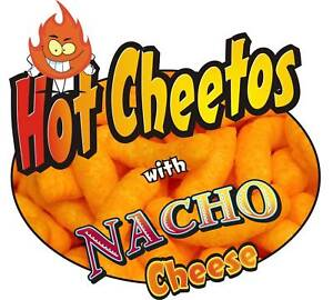 Concession Sign Decal 7 Cheetos With Nacho Cheese Food Truck Menu