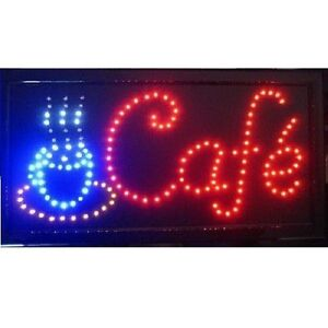 Animated Motion Led Business Cafe Club Sign On off Switch Bright Open Light Neon