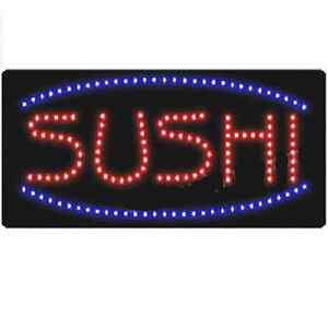 Animated Motion Led Restaurant Business Sushi Sign On off Switch Open Light Neon