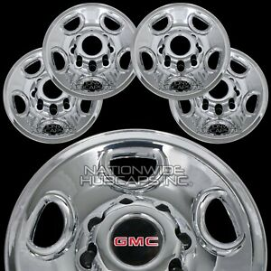Set Of 4 Gmc Chrome 8 Lug 16 Wheel Skins Hub Caps Center Covers Rim Simulators