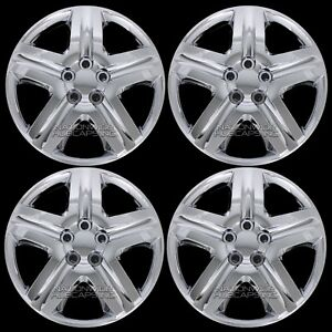 16 Set Of 4 Chrome Full Wheel Covers Hub Caps Rim Cover Wheels Rims Free Ship