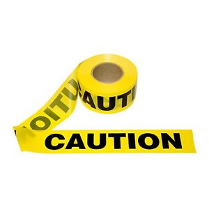 T15101 12 Rolls Yellow Caution Barrier Tape 1 5 Mil 3 x1000 free Us Shipping