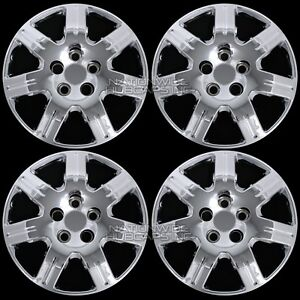 4 Chrome Fit Honda Civic 06 15 Bolt On 16 Hub Caps Full Wheel Covers Steel Rims