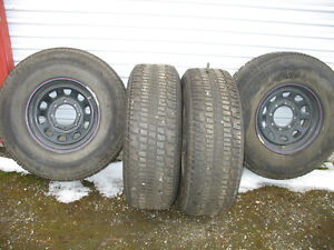 4 Studded Cooper Lt Weather Master M s Tires On 16 Wheels