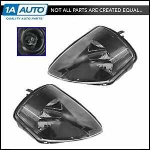 Headlights Headlamps Left Right Pair Set New For 00 02 Mitsubishi Eclipse