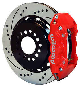 Wilwood Disc Brake Kit rear 05 10 Charger 300 14 Drilled Rotors red Calipers