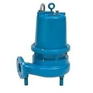 3 Submersible Sewage Pump 620 Gpm 230 Volts 1 Phase 17 3 Amp 2hp