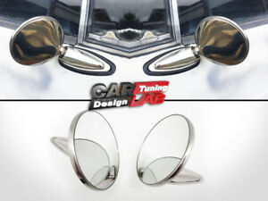 60 S 70 S 80 S Vintage Classic Round Chrome Mirrors Set Universial For Any Car