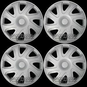 Set Of 4 14 Hub Caps Full Wheel Covers Rim Cap Lug Cover Hubs For Steel Wheels