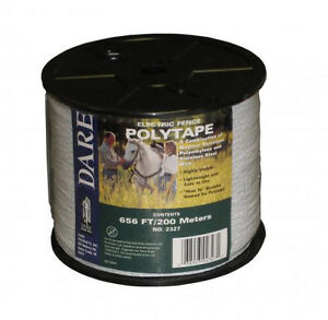 Usa Dare 1 2 Inch Poly Electric Fence Horse Tape 656ft