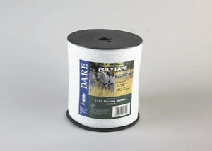 Usa Dare 1 2 Inch Poly Electric Fence Horse Tape 1312ft Equine Portable Fence