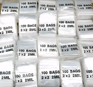 Ziplock Bags 12 000 Reclosable 2mil Clear Poly 2 X 2 Zip Seal Baggies 2 Square