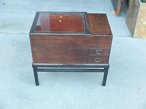 Japanese Hibachi W Metal Base Original Condition New Copper Container Inside