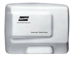 World Dryer Le1 974 Electric Aire Hand Dryer Automatic White Aluminum 115v