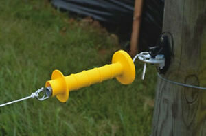 3 Way Cattle And Farm Gate Hd Handle And Anchor Set For Electric Fence 2 Pack