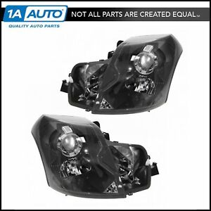 Headlights Headlamps Left Right Pair Set New For 03 07 Cadillac Cts