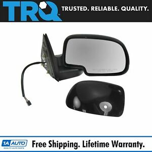 Side View Mirror Power Heated W Puddle Gloss Black Passenger Rh For Chevy Gmc