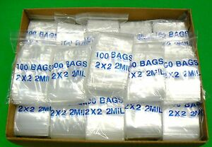 Clear Zip Lock Poly Bag Reloc 2 X 2 Reclosable Zip Seal 2mil Bags 8 000 Pcs
