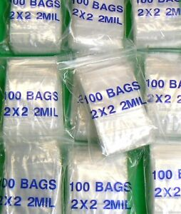 5 000 Plastic Bags 2x2 Zip Lock 2mil Zip Seal Reclosable 2 X 2 Clear Poly Bags