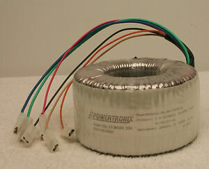 Powertronix Aa 72676 e 355va Toroidal Power Transformer 2x117v Primary new