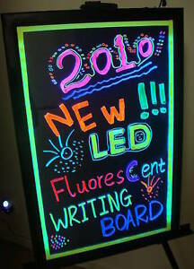 Flashing Illuminated Erasable Neon Led Message Writing Board Menu Sign 16 x16