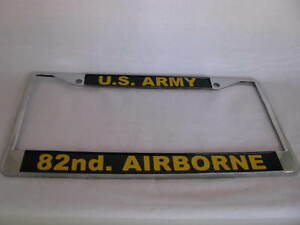 License Plate Frame Us Army 82nd Airborne Chrome