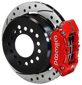 Wilwood Disc Brake Kit rear Parking big Ford New 2 50 11 Drilled red Calipers