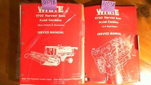 Wfe White 9700 Harvest Boss Axial Combine Service Manual