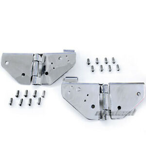 Smittybilt 55 95 Jeep Cj5 Cj7 Wrangler Yj Stainless Steel Hood Catch Kits New