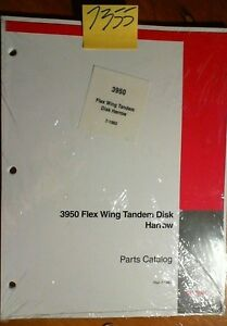 Case 3950 Flex Wing Tandem Disk Harrow Parts Catalog Manual Rac 7 1983